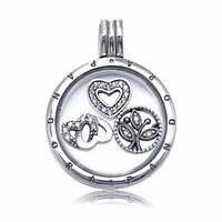 Серебряный медальон Pandora