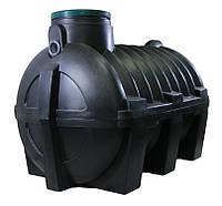 Большая емкость для монтажа в грунт, септик 3000 литров