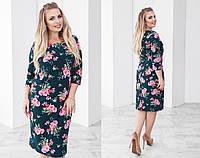 Платье нарядное большого размера, Ткань: костюмный креп , 4 расцветки супер качество нкух №2002