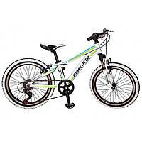 Велосипед Mascotte Spark 20 белый-зеленый