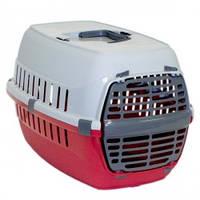 Moderna МОДЕРНА РОУД-РАННЕР 1 переноска для собак и кошек, с пластиковой дверью, 51х31х34 см, красный кирпич