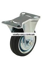 Черная резина с кронштейном, не поворотное, диаметр 160 мм.