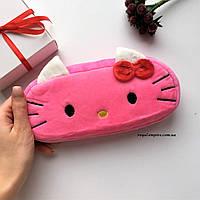 """Маленькая косметичка """"Котик"""", розовая."""