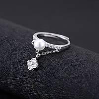Кольцо женсое с подвеской жемчуг регулируемое