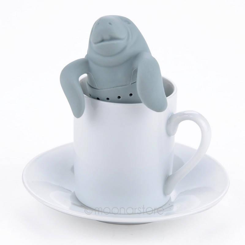 Заварное ситечко для чая в форме моржа силиконовое