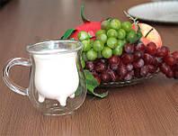 Чашка из двойного стекла в виде вымя