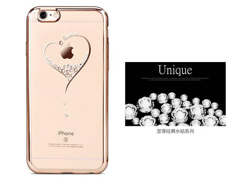 Чехол для айфон прозрачный силиконовый с сердцем