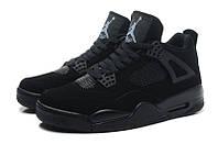 Баскетбольные кроссовки Nike Air Jordan Retro IV 4 Black Cat, фото 1