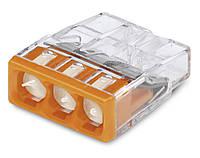 WAGO-клеммы 2273-243-Соединитель COMPACT для распределительных коробок 3-проводная клемма с пастой