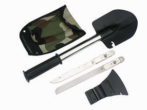Малая саперная лопата с чехлом 5 в 1 Military, фото 2