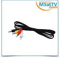 Шнур Mini Jack (миниджек) 3,5 мм на 3RCA 0.5м