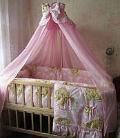 Детское постельное. Сменка. Постельное белье 3 предмета. Бемби. Цвет : розовый