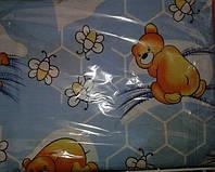 Детское постельное. Сменка. Постельное белье 3 предмета. Мишка и мед Цвет: голубой