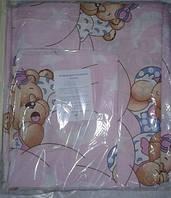 Детское постельное. Сменка. Постельное белье 3 предмета. Мишки Цвет: розовый