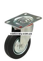 Черная резина с кронштейном, поворотное, диаметр 75 мм.