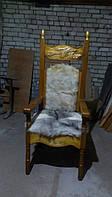 Деревянное кресло резное эксклюзив