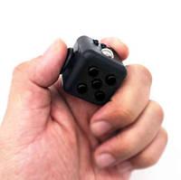 Кубик от нервов для пальцев рук ЧЕРНЫЙ С ЧЕРНЫМИ КНОПКАМИ SKU0000568