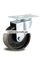 Термостойкое из чугуна с подшипником скольжения, поворотное, диаметр 125 мм.