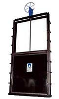 Плоский 3-сторонний шлюзовый откатный затвор Ду 150 х 150