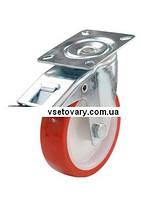 Полиуретановое с полиамидным осн-ем, поворотное с тормозами, диаметр 100 мм.