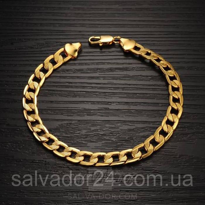 Мужской браслет Gold filled 18k
