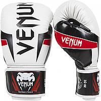 Перчатки боксерские Venum Elite 14oz Ice/Black/Red