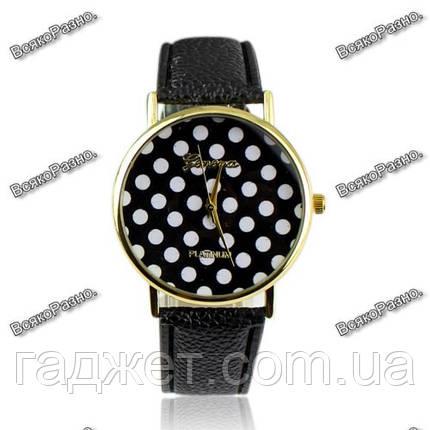 Женские часы Geneva Polka черного цвета, фото 2
