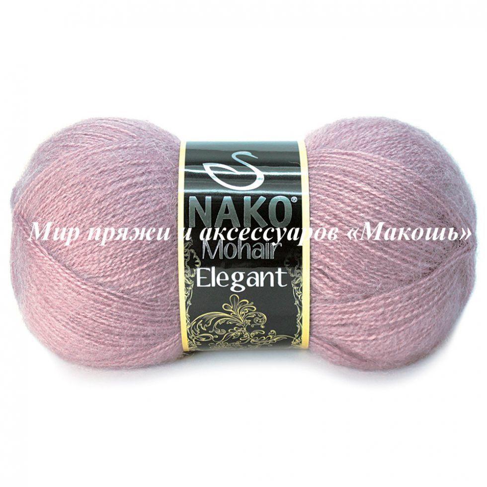 Пряжа Mohair Delicate Мохер деликат Нако, №6114, пыльная роза