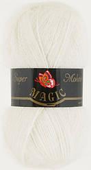 Пряжа Супер мохер Магик Super Mohair Magic, № 110, белый