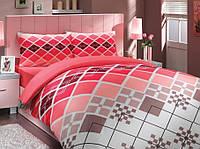 Комплект постельного белья HOBBY ранфорс Destina евро красный