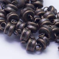 Застежка Магнитная из Латуни, Шайба, Цвет: Медь, Размер: 10х6мм, Отв. 1мм, (УТ0026695)