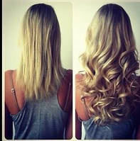 Наращивание волос трессами