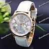 Часы Geneva с ремешком с кожи PU белого цвета, фото 2