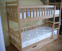 Двоярусне ліжко Олександр з масиву бук
