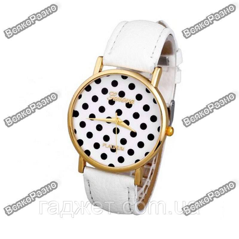 Женские часы Geneva Polka белого цвета