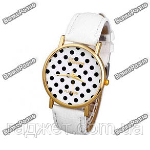 Женские часы Geneva Polka белого цвета, фото 2