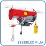 Лебедка электрическая 220/230В, 900Вт, 250/500кг, трос 4.2мм*12м GT1482 Intertool
