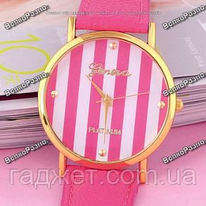 Часы Geneva Platinum розового цвета., фото 2