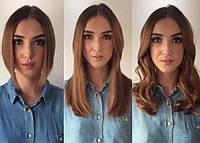 Наращивание волос на каре