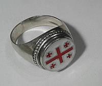 Флаг Грузии кольцо серебро с эмаль.
