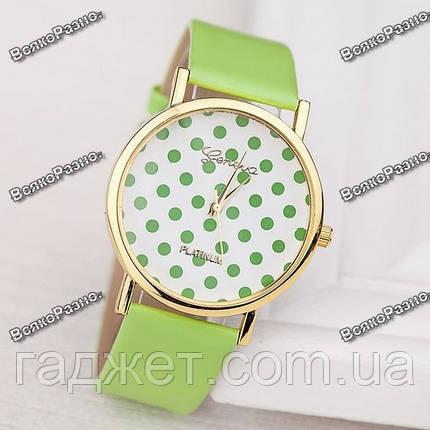 Женские часы Geneva Polka салатового цвета., фото 2