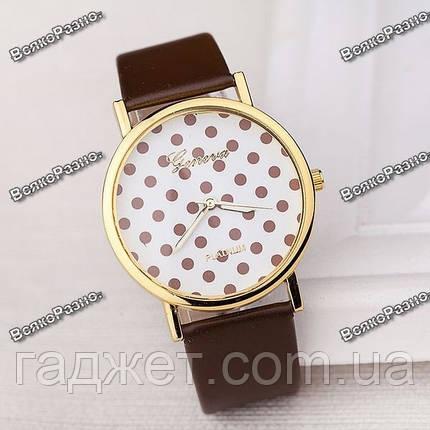 Женские часы Geneva Polka коричневого цвета, фото 2