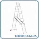 Лестница алюминиевая 2-х секционная универсальная раскладная 2*12ступ. 5.93м LT-0212 Intertool