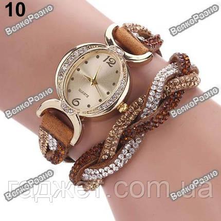 Женские часы браслет коричневого цвета, фото 2