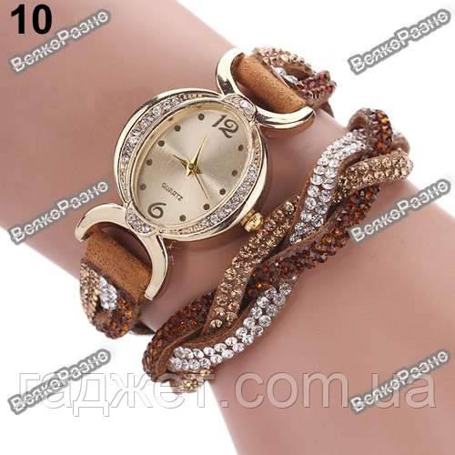 Женские часы браслет коричневого цвета