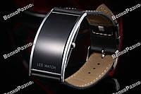 Черные led часы / Мужские наручные часы Led watch.