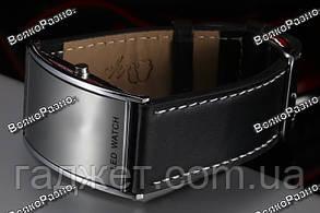 Черные led часы / Мужские наручные часы Led watch., фото 2