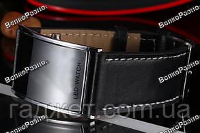 Черные led часы / Мужские наручные часы Led watch., фото 3