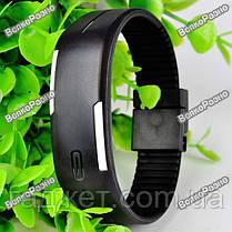 Спортивные часы / Оригинальные LED часы /светодиодные часы черного  цвета, фото 3