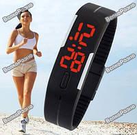 Спортивные часы / Оригинальные LED часы /светодиодные часы черного  цвета